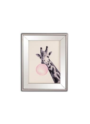 Mikasa Moor Zürafa Aynalı Tablo 40X50Cm Gümüş